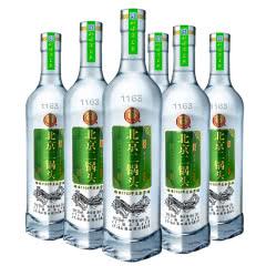 永丰牌 北京二锅头 京味清香型白酒 三角爱心瓶42度500ml 白瓶绿标6瓶装