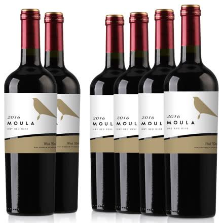 慕拉红酒金鸟干红葡萄酒整箱赤霞珠梅洛干红750ml*6瓶装