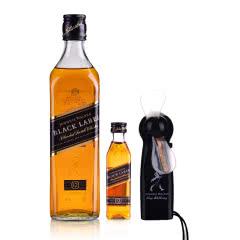 40°尊尼获加(Johnnie Walker) 黑方调配型苏格兰威士忌500ml+ 40°英国尊尼获加黑方威士忌50ml +时尚小风扇