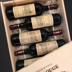 路易拉菲红酒传说干红葡萄酒法国原瓶进口红酒整箱礼袋装送酒具