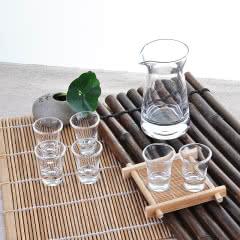 小酒杯一口杯玻璃分酒器酒壶七件套装量酒具