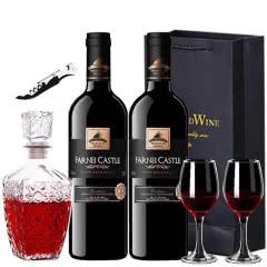 法国原瓶进口红酒波尔多AOP方尼堡1987干红葡萄酒750ml *2