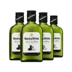 黑白狗调配苏格兰威士忌Black&White200ml*4
