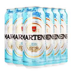 比利时进口啤酒麦蒂斯白啤酒橘子果味白啤酒500ml(6听装)