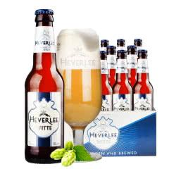 比利时进口白啤海弗莱小麦白啤酒330ml(24瓶装)