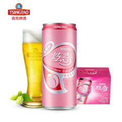 青岛啤酒(TsingTao) 11度 炫奇水蜜桃罐啤 310ml*12听 整箱装