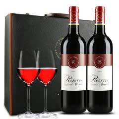 【礼盒装】拉菲珍藏波尔多 法国原瓶进口红酒 黑色双支礼盒装 750ml*2
