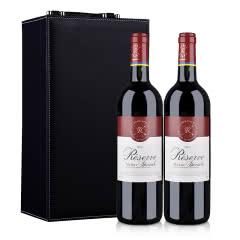 法国拉菲珍藏梅多克法定产区红葡萄酒750ml*2(礼盒装)