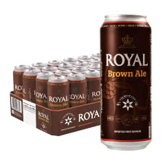 丹麦进口皇家(Royal)棕啤酒 500ml*24听整箱大麦啤酒