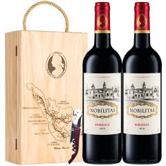 拉蒙 雾榭园 自饮馈赠 波尔多法定AOC 法国原瓶进口 干红葡萄酒 750ml*2双支装