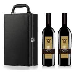 法国进口红酒法国天使干红葡萄酒双支礼盒装750ml*2