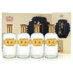 42度山东百脉泉 清照粮篓酒浓香型白酒 777ml*4瓶礼盒装