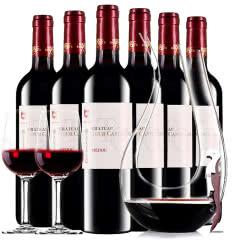 【中级庄】法国原瓶进口红酒梅多克图卡斯特隆酒庄2013干红葡萄红酒整箱装750ml*6