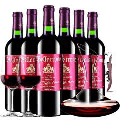 法国进口红酒卡斯特贝桐副牌干红葡萄酒红酒整箱醒酒器装750ml*6