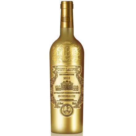 法国进口红酒德望圣堡公爵干红葡萄酒原酒进口雕花重型瓶750ml(金瓶)