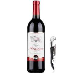 法国红酒(原瓶原装)进口红酒超级波尔多法定产区AOC/AOP级干红葡萄酒750ml单支装