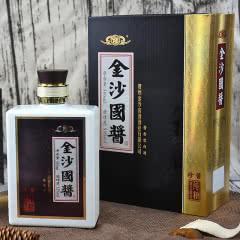 53度贵州金沙酒金沙国酱珍酱 纯粮食酱香型白酒 方瓶 500ml礼盒装
