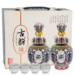 古井镇  古韵酒浓香型52度500mL*2瓶礼盒白酒整箱