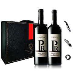 意大利(原瓶进口)托斯卡纳红酒 卡斯特拉尼 普里米蒂沃红葡萄酒红酒礼盒装750ml(2瓶)