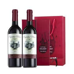 【礼品礼盒装】法国原瓶原装进口红酒 佩顿庄园干红葡萄酒750ml*2支礼盒装