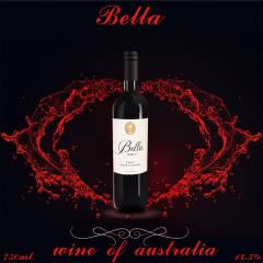 澳大利亚原装进口贝拉BIN8西拉(SHIRAZ)干红葡萄酒单瓶装750ml