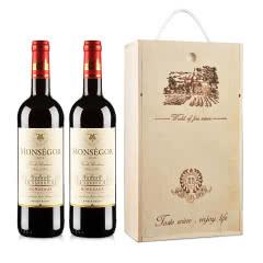 法国波尔多AOC蒙赛哥干红葡萄酒整箱装750ml*6