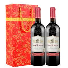 法国原酒进口红酒 波尔多传奇赤霞珠干红葡萄750ml*2
