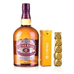 40°英国芝华士12年苏格兰威士忌1000ml+芝华士金色骰子套装
