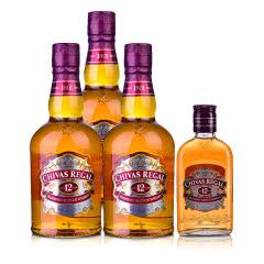 40°英国芝华士12年苏格兰威士忌500ml(3瓶装)