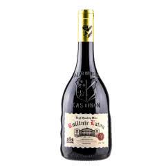 【买一赠一】法国进口红酒13度 布勒塔尼拉图AOP级干红葡萄酒异型浮雕重型瓶750ml