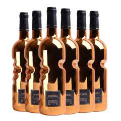 法国原瓶进口罗曼蒂克浪漫之守干红葡萄酒金瓶手握瓶6支红酒整箱礼盒750ml*6