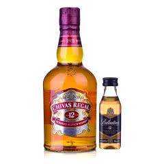 40°英国芝华士12年苏格兰威士忌500ml +百龄坛12年酒版