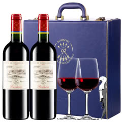 【DBR拉菲】法国原瓶进口红酒拉菲珍酿波尔多干红葡萄酒红酒礼盒装750ml*2