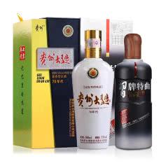 53°茅台贵州大曲酒500ml(70年代)+52°习牌特曲丙申年纪念版 500ml