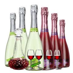4.5度【葡萄味+蓝莓味】维科尼娅 甜型汽泡酒低度少女葡萄酒 730ml*6混合装