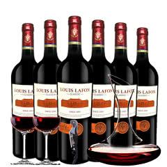 路易拉菲Louis Lafon法国原酒进口经典干红葡萄酒红酒 醒酒器装750ml*6