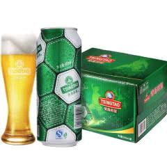 青岛啤酒经典10度500*12足球罐啤