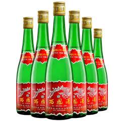 西凤酒55度绿瓶高脖500ml凤香型高度口粮白酒整箱6瓶装
