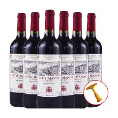 14%vol法国原酒进口法蒂艾斯庄园干红葡萄酒750ml*6