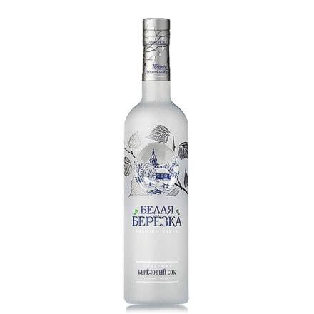 40°俄罗斯原装进口洋酒伏特加银白桦烈性伏特加500ml单瓶装