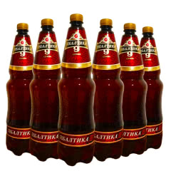 俄罗斯进口啤酒精酿啤酒波罗的海烈性啤酒高度啤酒桶装啤酒1.35L(6瓶)