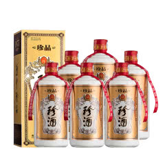 53°珍酒珍品 贵州酱香型白酒礼盒装 易地茅台酒 固态纯粮 500ml*6(6瓶)