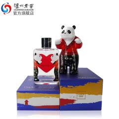 【酒厂直营】52度百调·HeartPanda熊猫小酒125ml礼盒+熊猫摆件套装 泸州老窖
