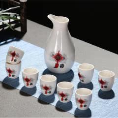 白酒酒具九件套装烧酒壶酒杯 9头陶瓷分酒器醒酒器