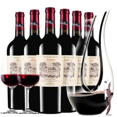 法国进口红酒拉斐艺术家城堡干红葡萄酒波尔多AOP级红酒整箱750ml*6