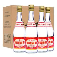 53°山西杏花特产 2014年产老酒优级酒  清香型高粱白酒 酒厂直供 475ml整箱4瓶