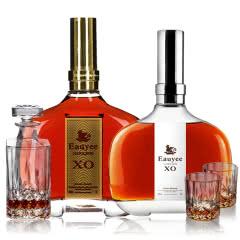 40°法国欧邑拿破仑(原瓶进口)XO白兰地700ml+1000ml(2瓶组合)