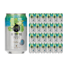 台湾啤酒原装进口果微醺水果味啤酒白葡萄味整箱330ml(24听装)