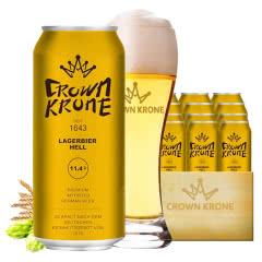 德国进口皇冠啤酒精制黄啤酒500ML(24听装)