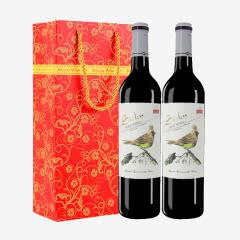 【包邮】甜型红酒 思琪酒庄赤霞珠甜红葡萄酒750ml*2瓶礼盒装